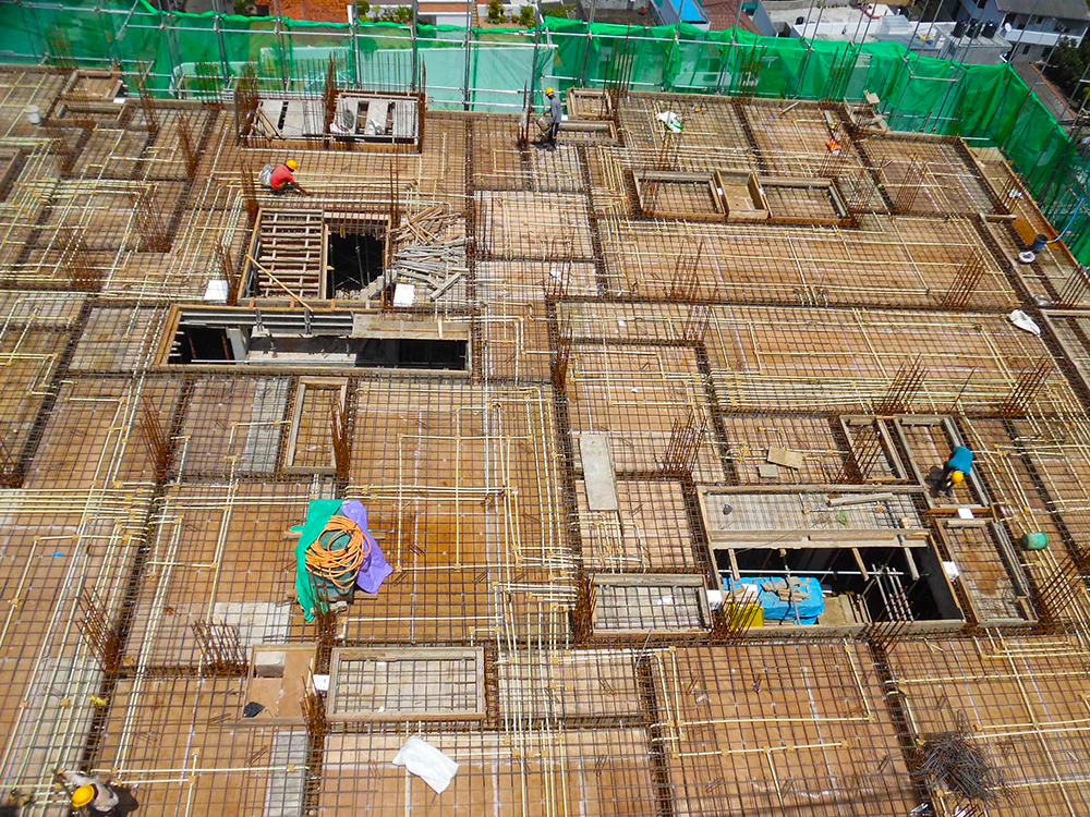9th & 10th Floor Concreting