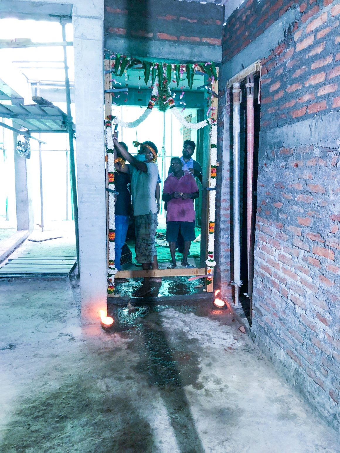 Door Laying Ceremony