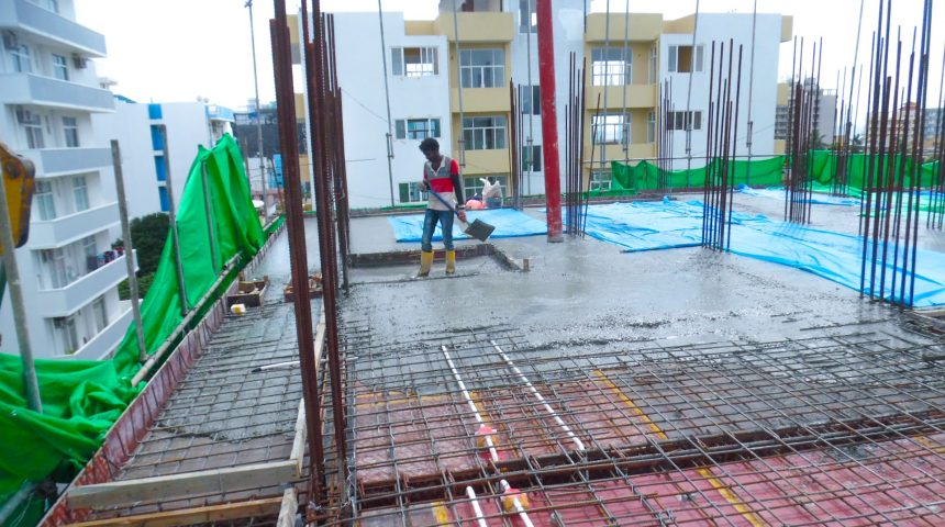 4th Floor Slab Work